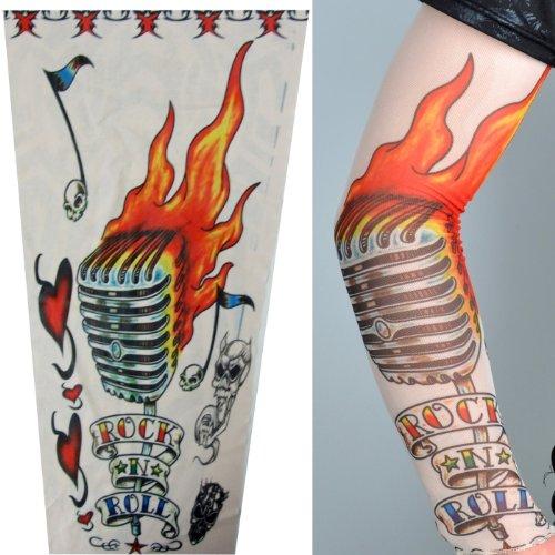 8 X Stretch Nylon Fake Tattoo Sleeves Arms Fancy Dress